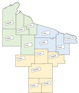 Image of 15 counties in Northern Region